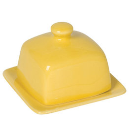 Square Butter Dish, Lemon