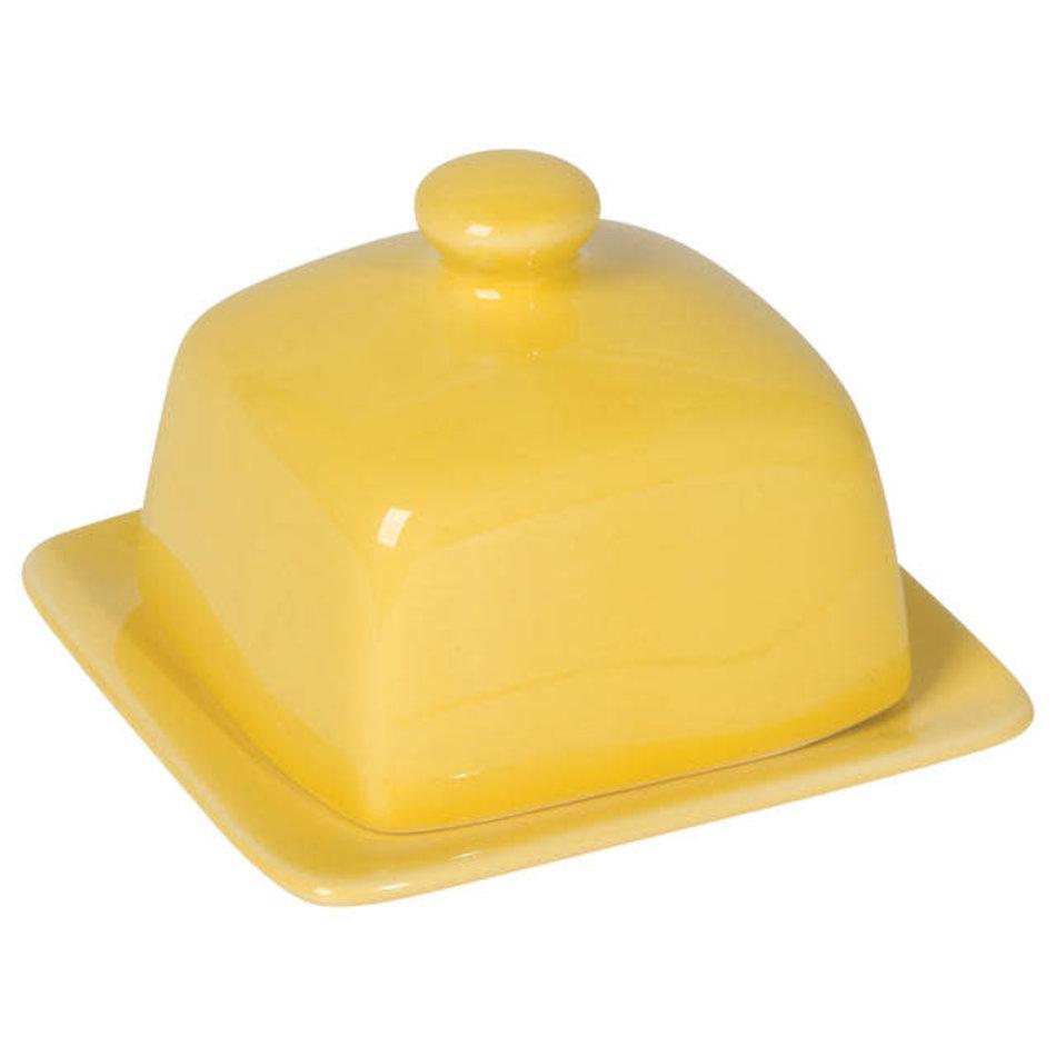 Square Butter Dish, Lemon