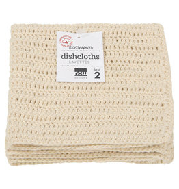 Now Designs Homespun Dishcloths, Natural, Set of 2