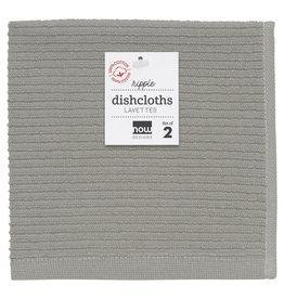 Now Designs Ripple Dishcloth, London Gray, Set of 2