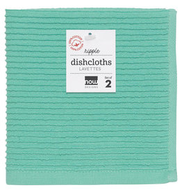 Now Designs Ripple Dishcloth, Lucite, Set of 2