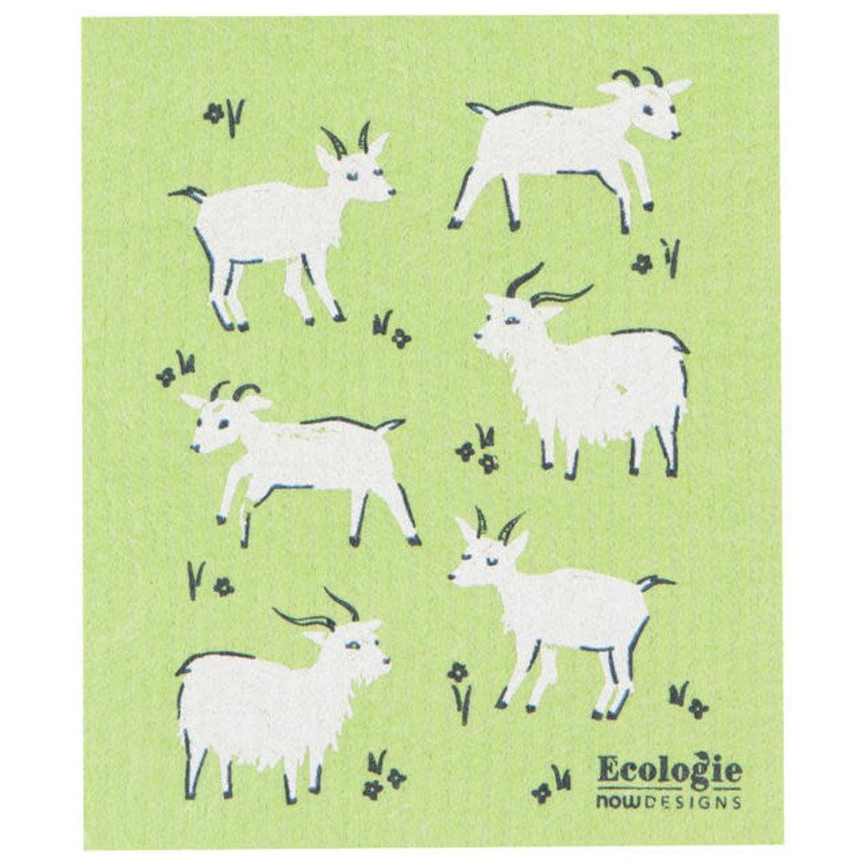 Now Designs Swedish Dishcloth, Goats