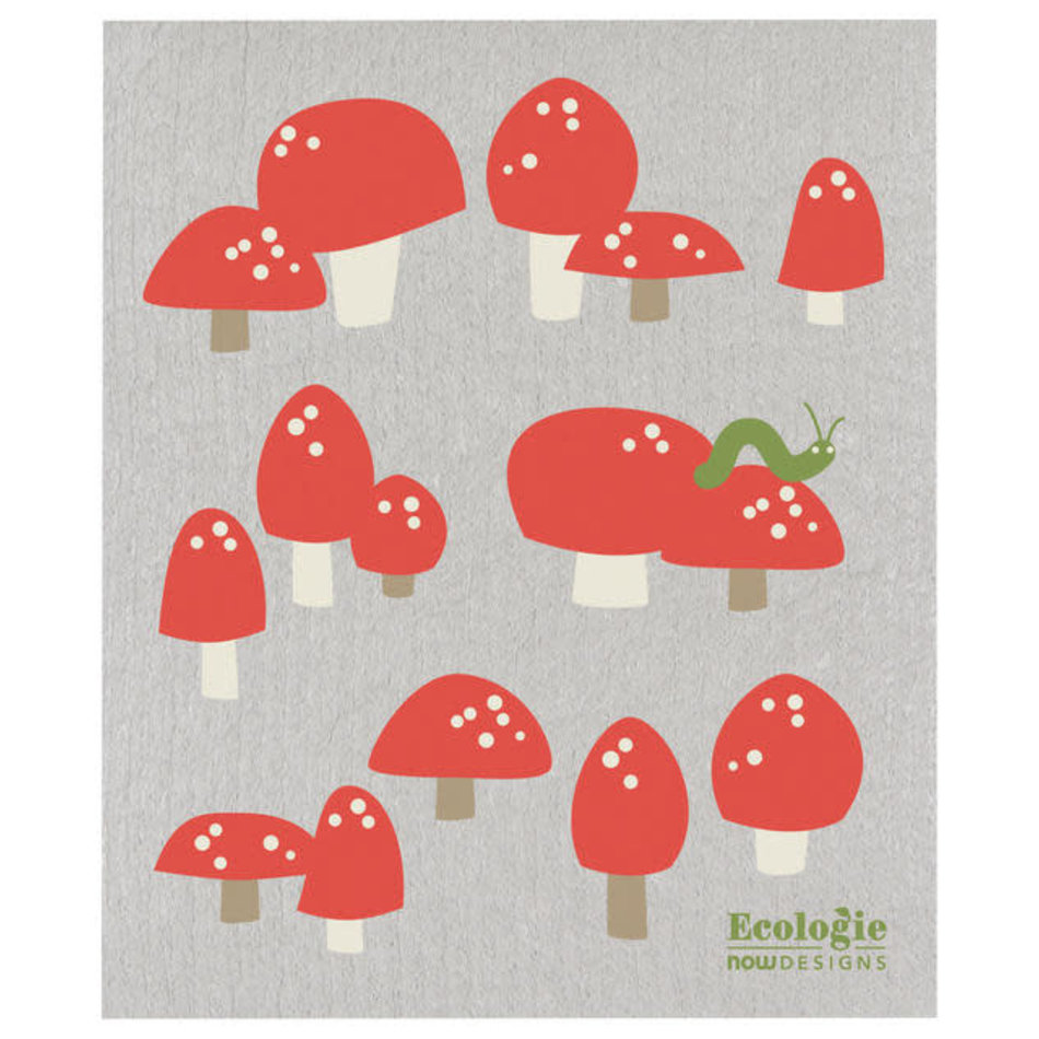 Now Designs Swedish Dishcloth, Totally Toadstools