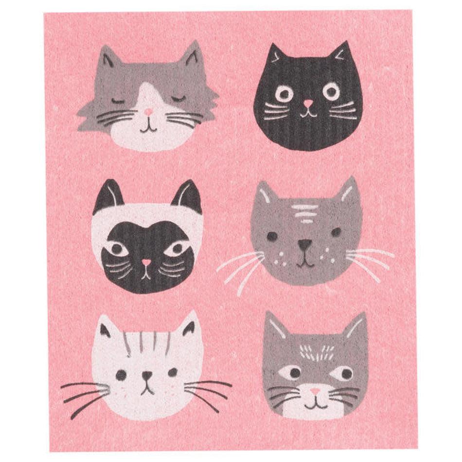 Now Designs Swedish Dishcloth, Cats Meow