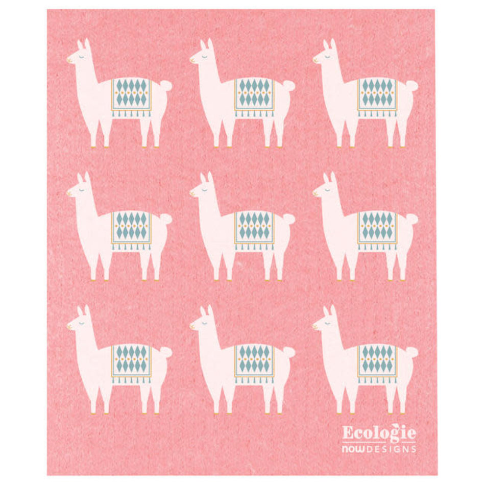 Now Designs Swedish Dishcloth, Lupa Llama