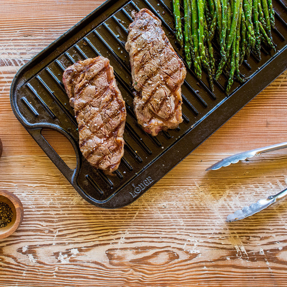 """Lodge Lodge Reversible Grill/Griddle With Handles, 20"""" x 10.5"""""""