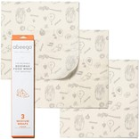Abeego Abeego Beeswax Food Wrap, Small, Set of 6