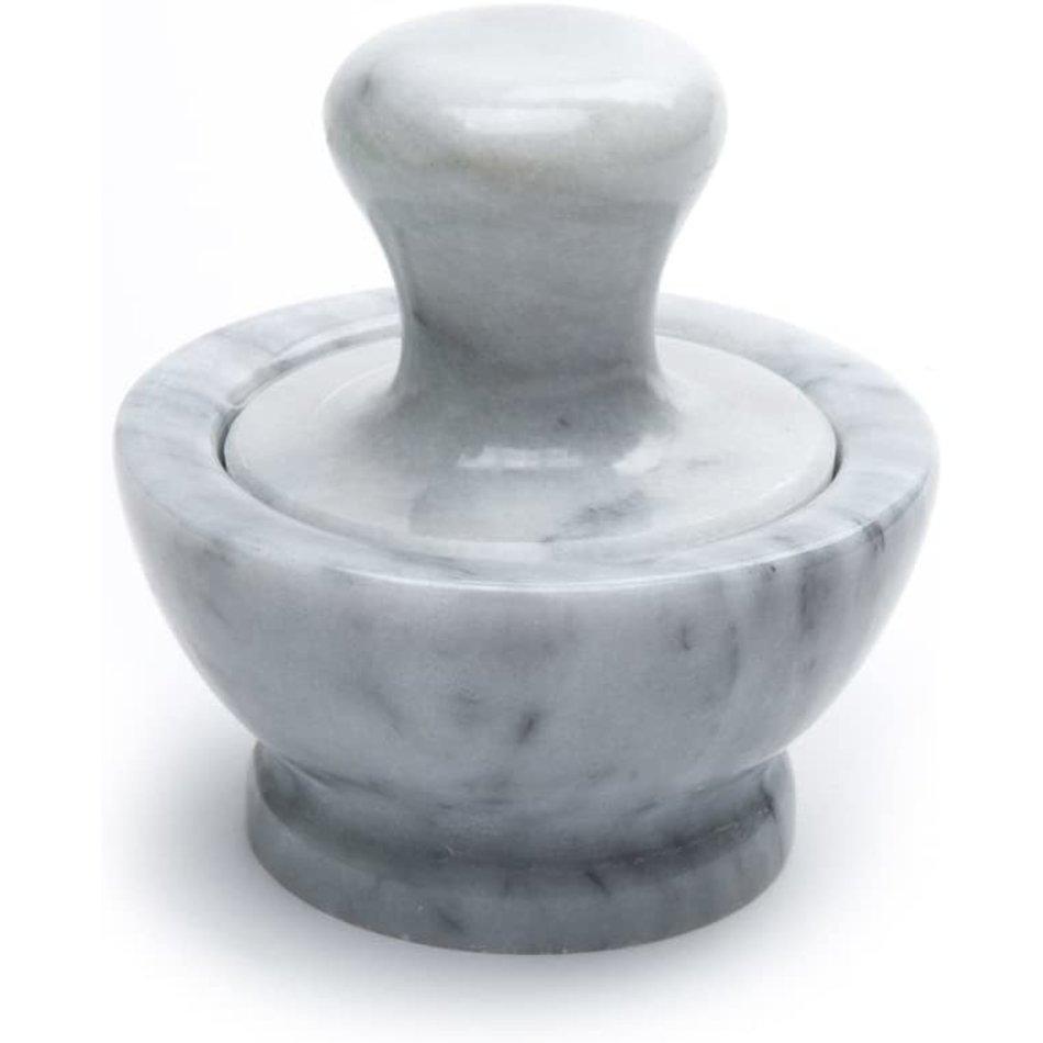 "Fox Run Mortar & Large Pestle, White Marble, 4"""