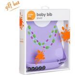 Make My Day Lilac Jewels Bib
