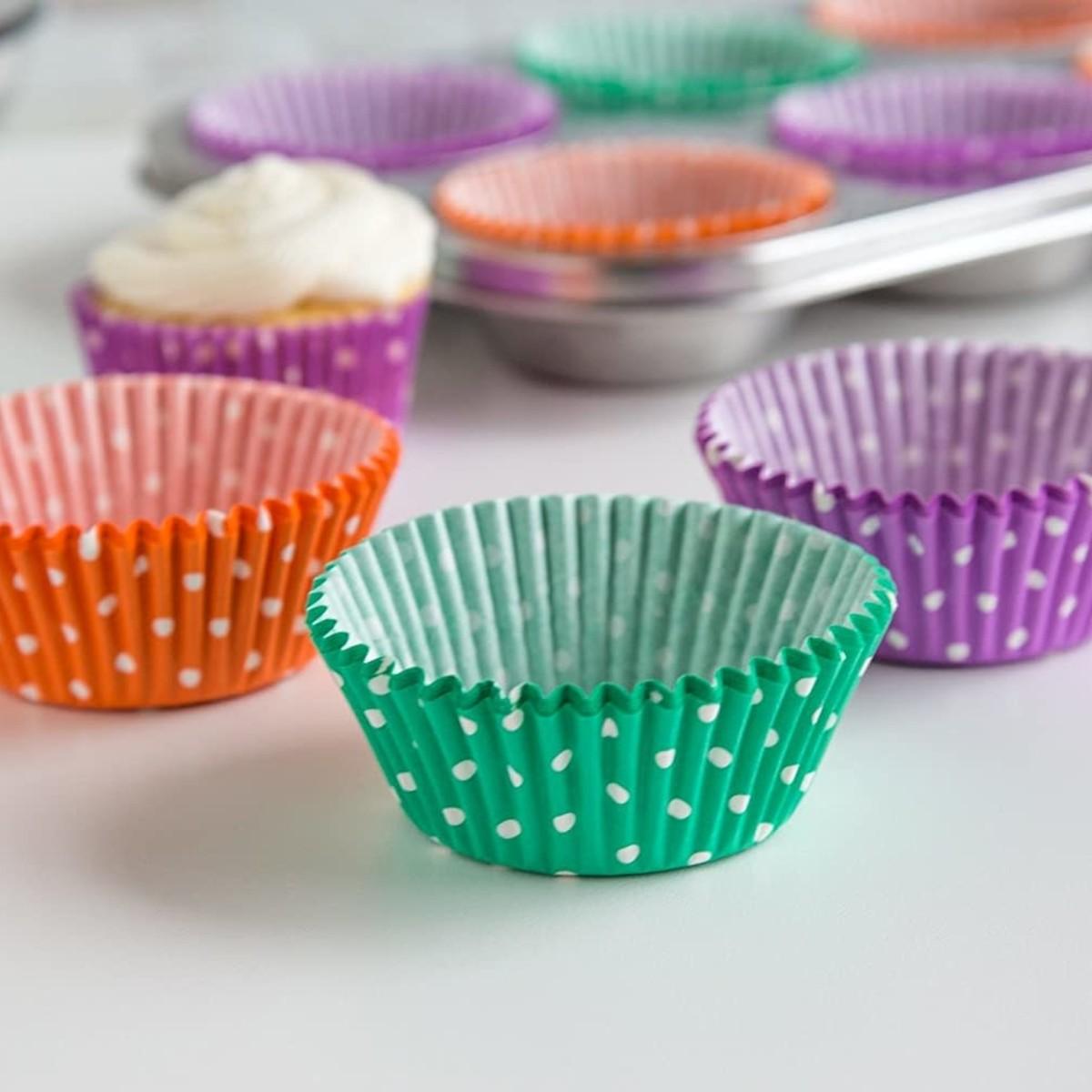 Fox Run Fox Run Multi Colour Polka Dot Baking Cups, 75pc