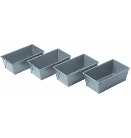 Chicago Metallic Chicago Metallic Commercial II Mini Loaf Pans, Non-Stick, Set of 4