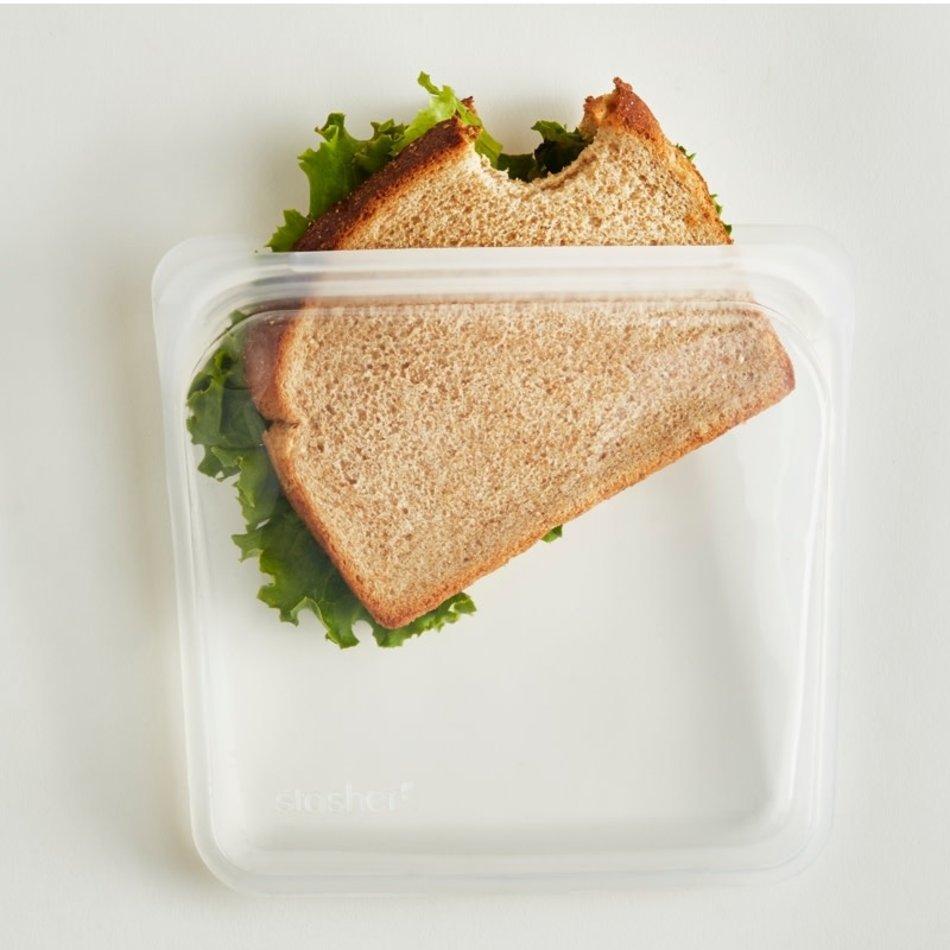 Stasher Stasher Reusable Bag, Sandwich, Clear