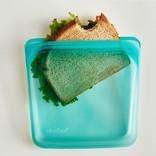 Stasher Stasher Reusable Bag, Sandwich,  Aqua