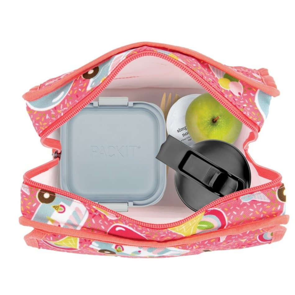PACKIT Packit Freezable Lunch Bag, Ice Cream Social