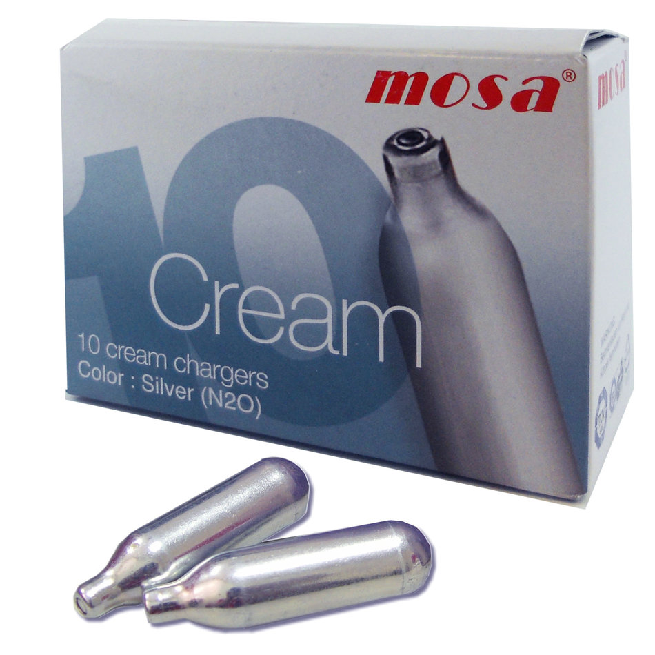 Mosa Mosa Cream Whipper Chargers, Box of 10