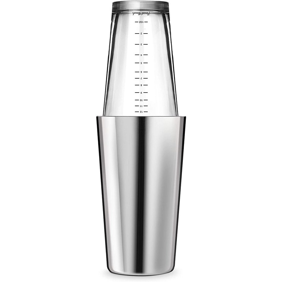 Final Touch Boston Shaker, Stainless Steel Double Wall, 24oz
