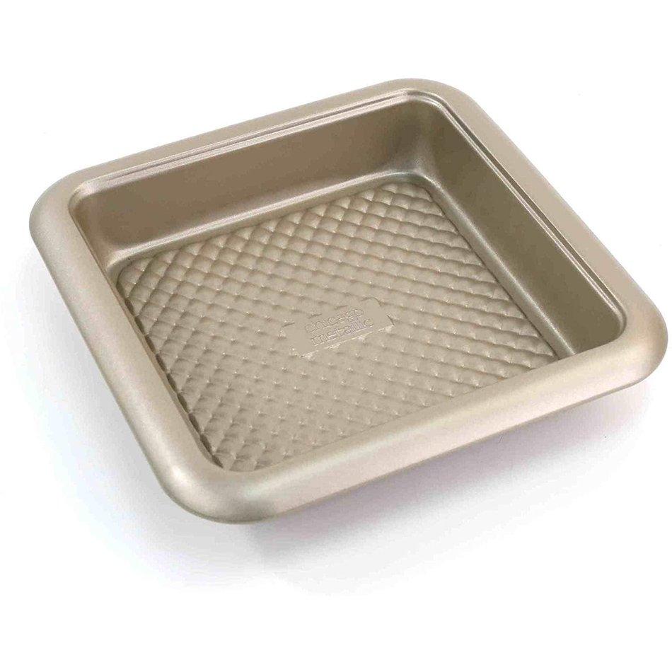 """Chicago Metallic Chicago Metallic Gold Arch Square Cake Pan, 8"""""""