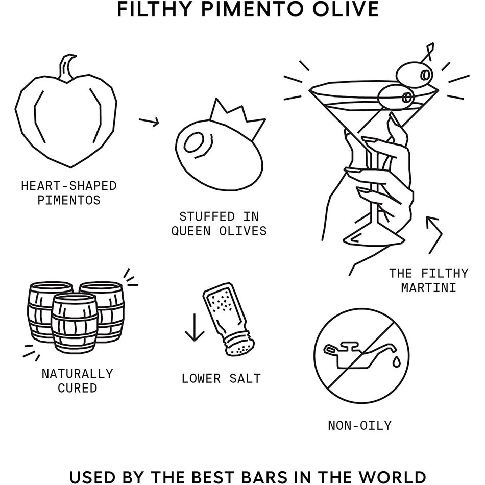 Filthy Filthy Pimento Olives, 8oz
