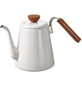 Hario Hario Bona Drip Kettle, White Ceramic