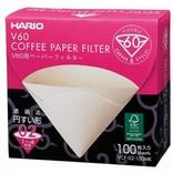 Hario Hario V60-02 Unbleached Filters, 100pk