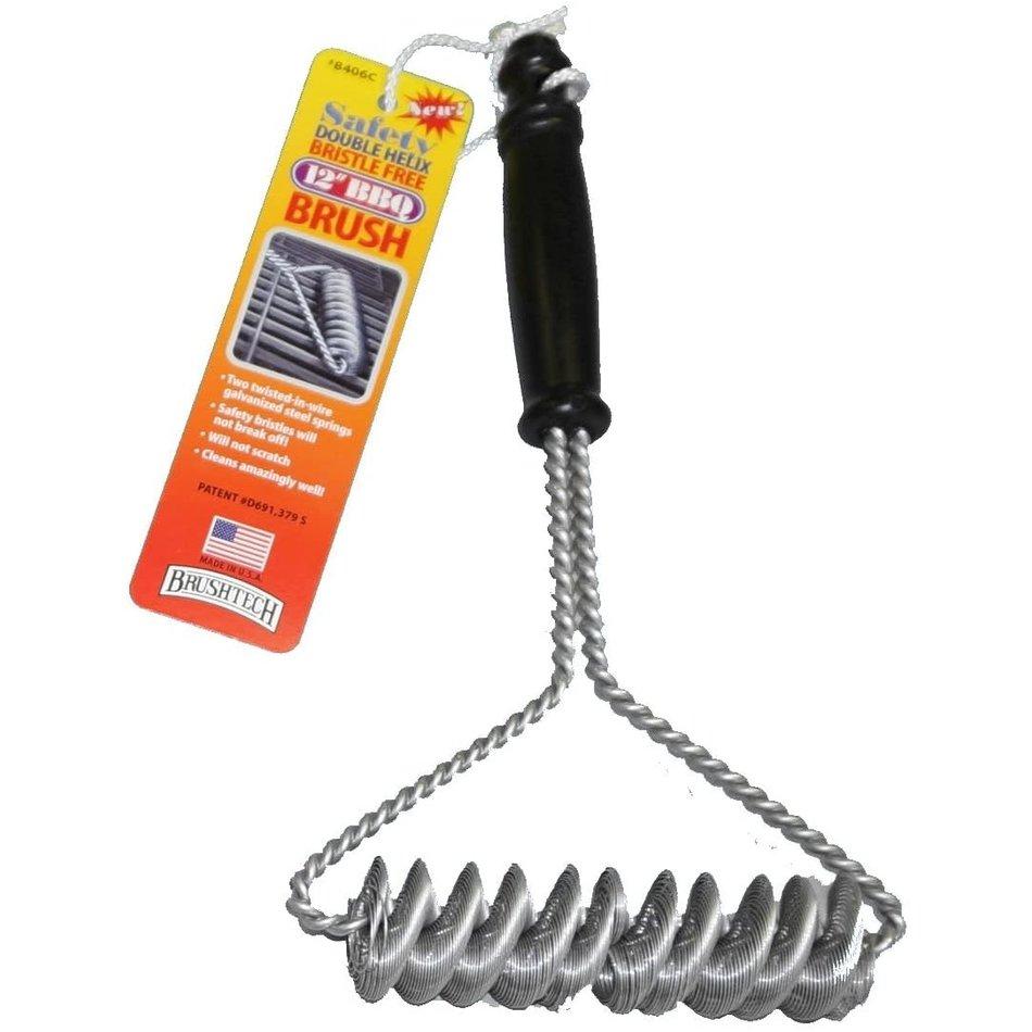"""Brushtech Brushtech Double Helix BBQ Brush, 12"""""""