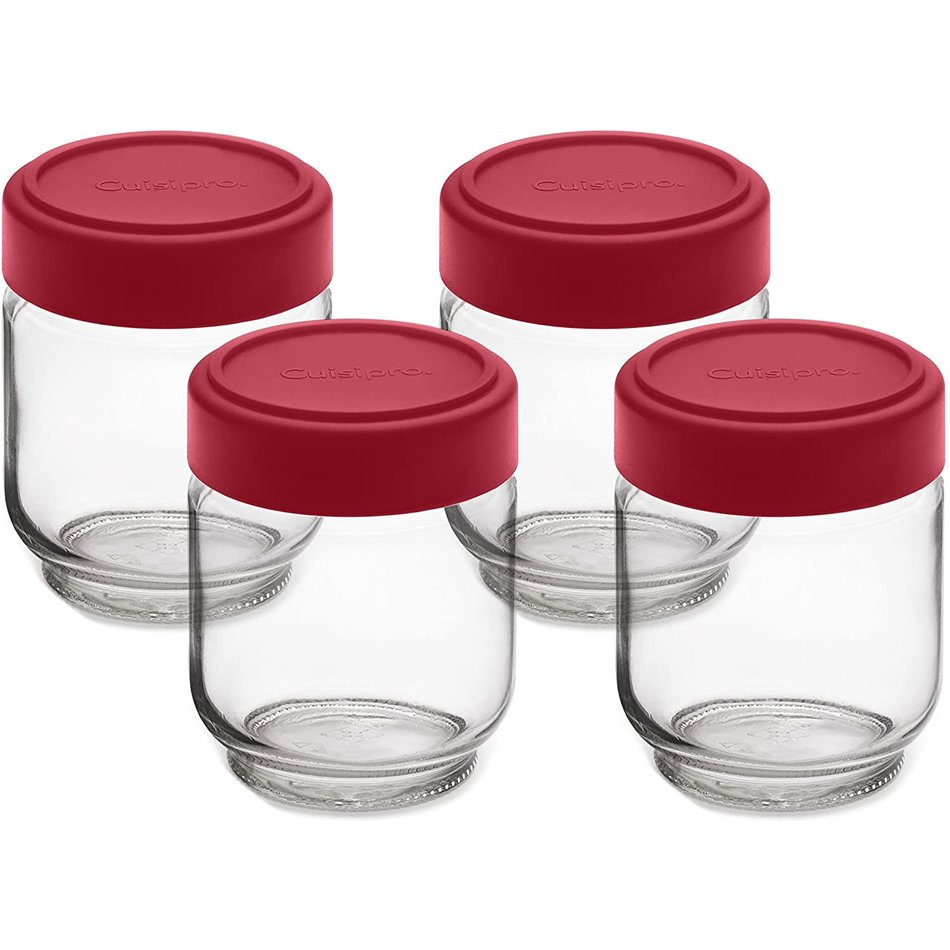 Cuisipro Cuisipro Glass Yogurt Jars, Set of 4
