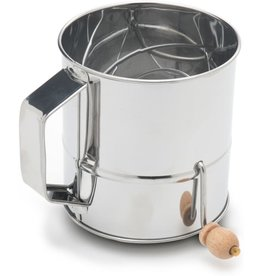 Fox Run Stainless Steel Flour Sifter, 3-Cup