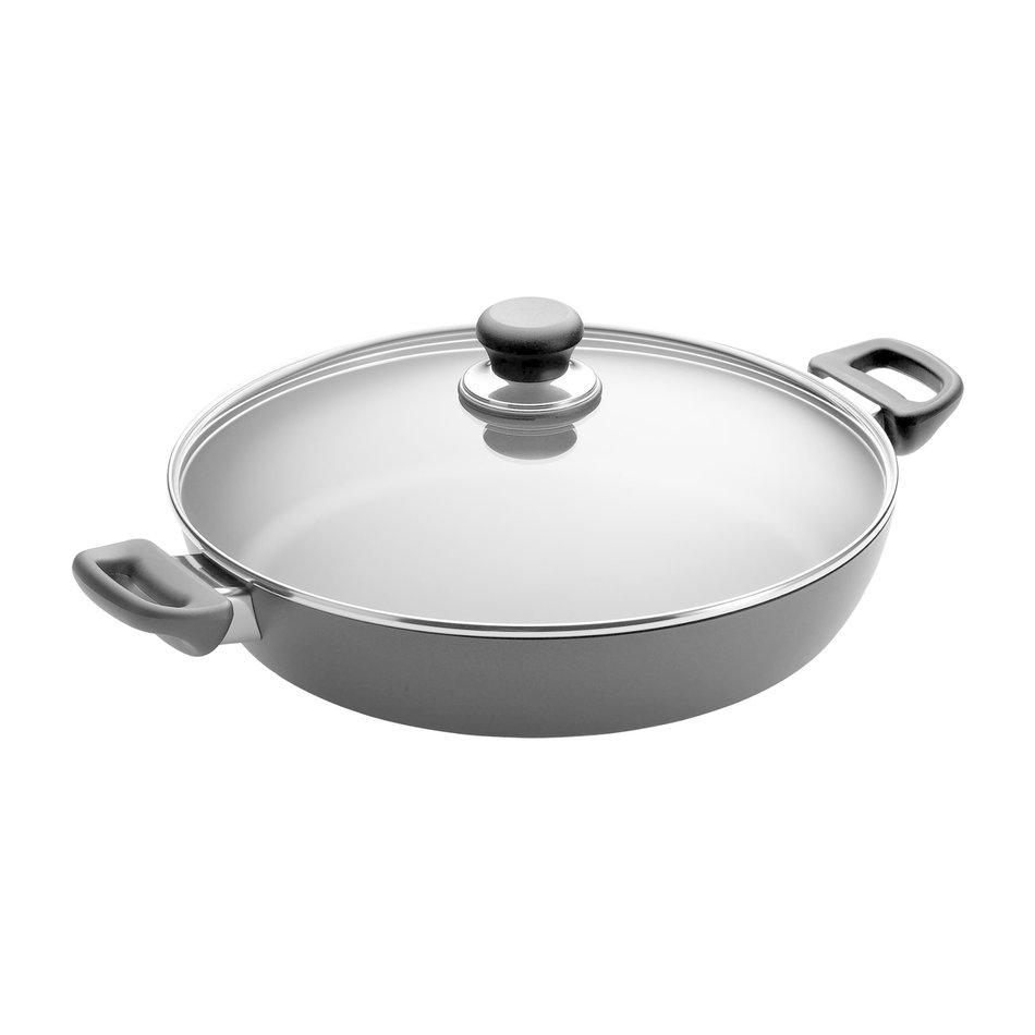 "Scanpan Scanpan Classic Non-Stick Chef Pan with Glass Lid, 12.5"""