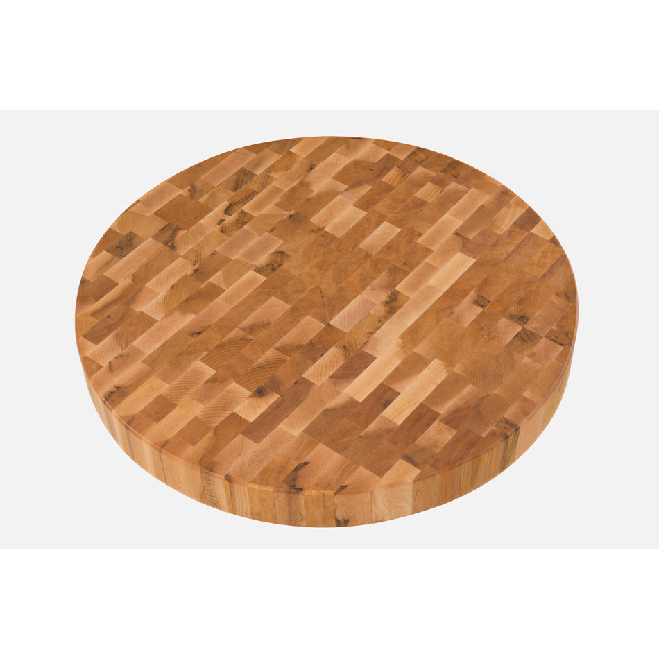 """Labell Labell Round Butcher Block, 18""""x 2"""""""