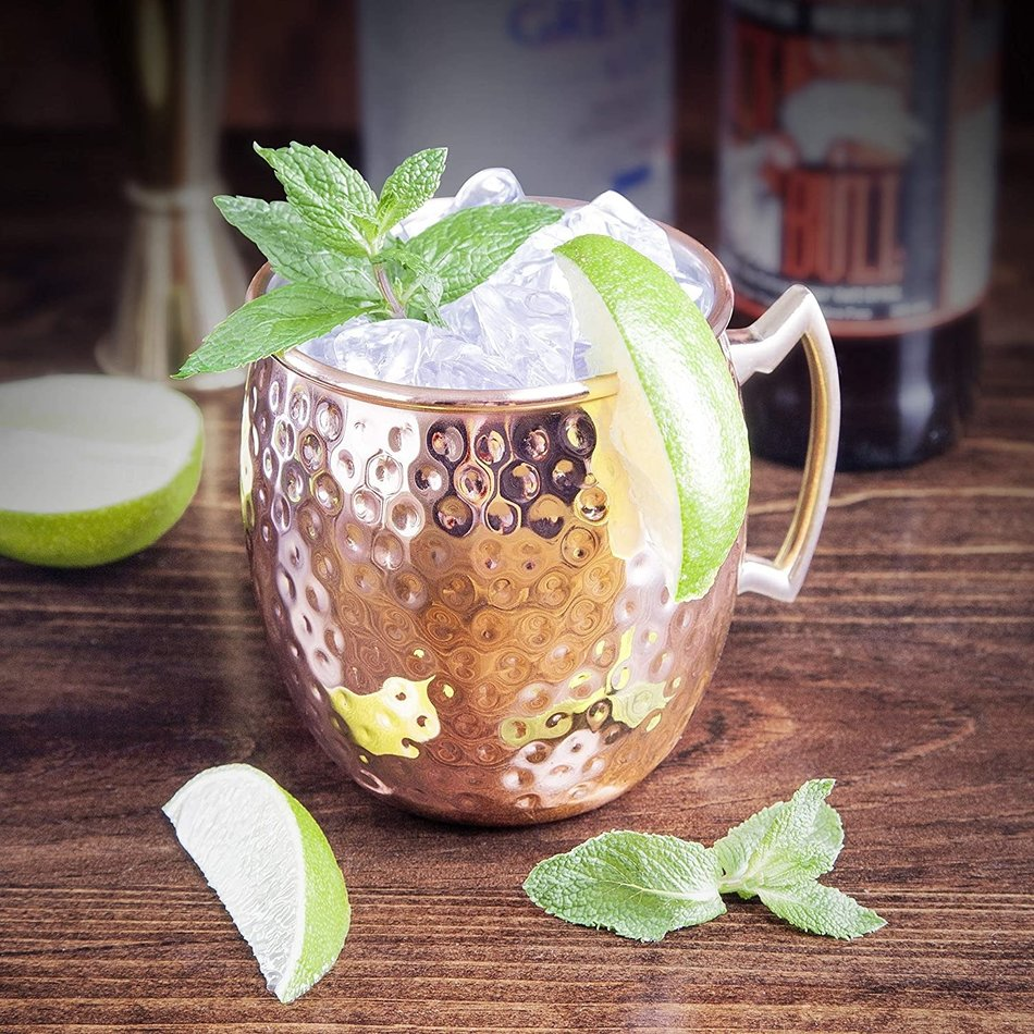 Final Touch Hammered Copper Moscow Mule