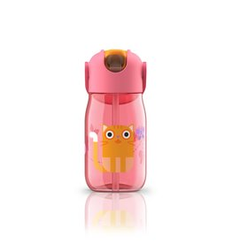 ZOKU Zoku Kids Flip Straw Bottle, Pink