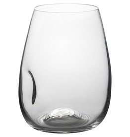 Trudeau Gem Stemless Wine Glasses, Indented, 4pc