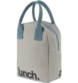 Fluf Fluf Zip Lunch Bag, Grey/Midnight