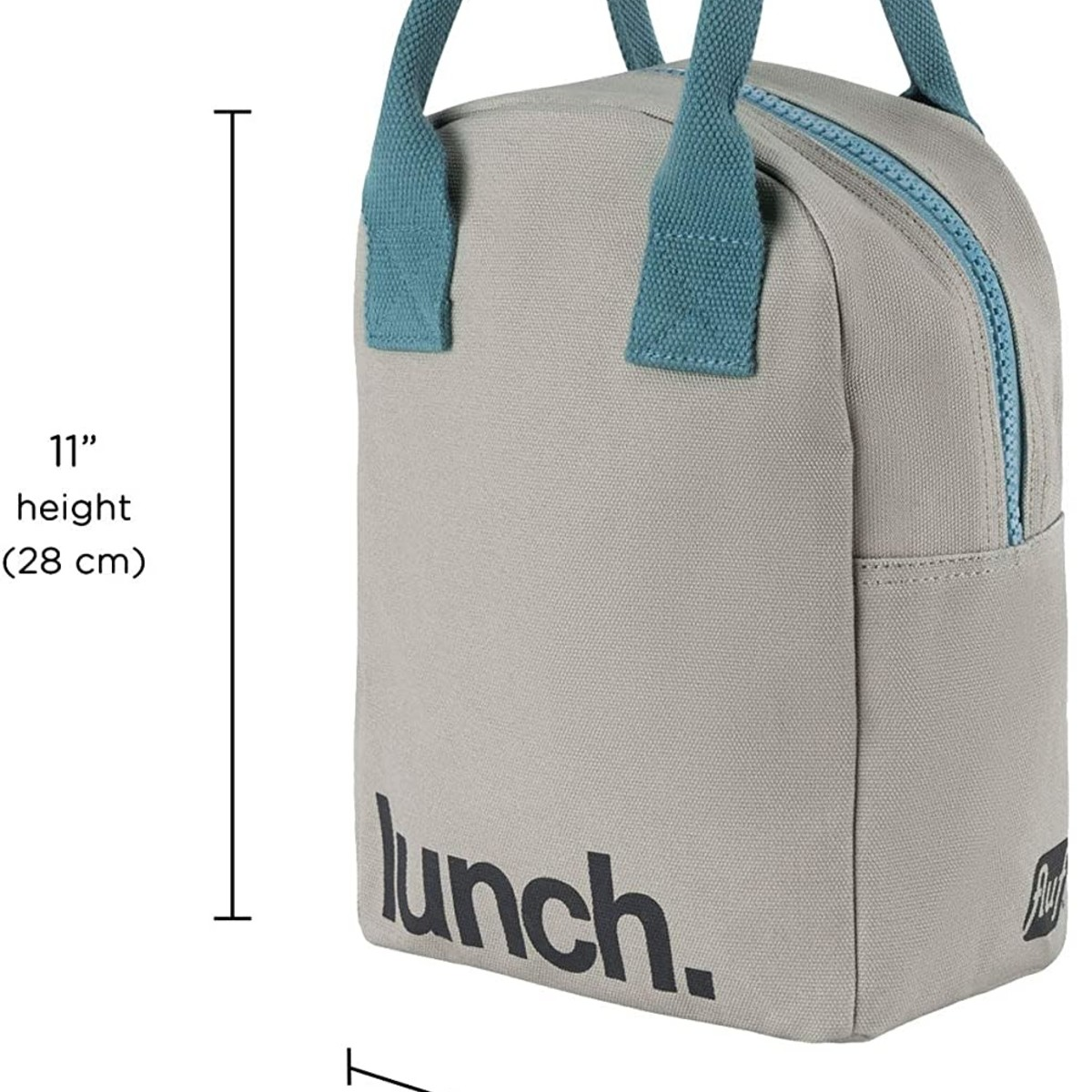 Fluf Fluf Zip Lunch Bag, Grey/Midnight