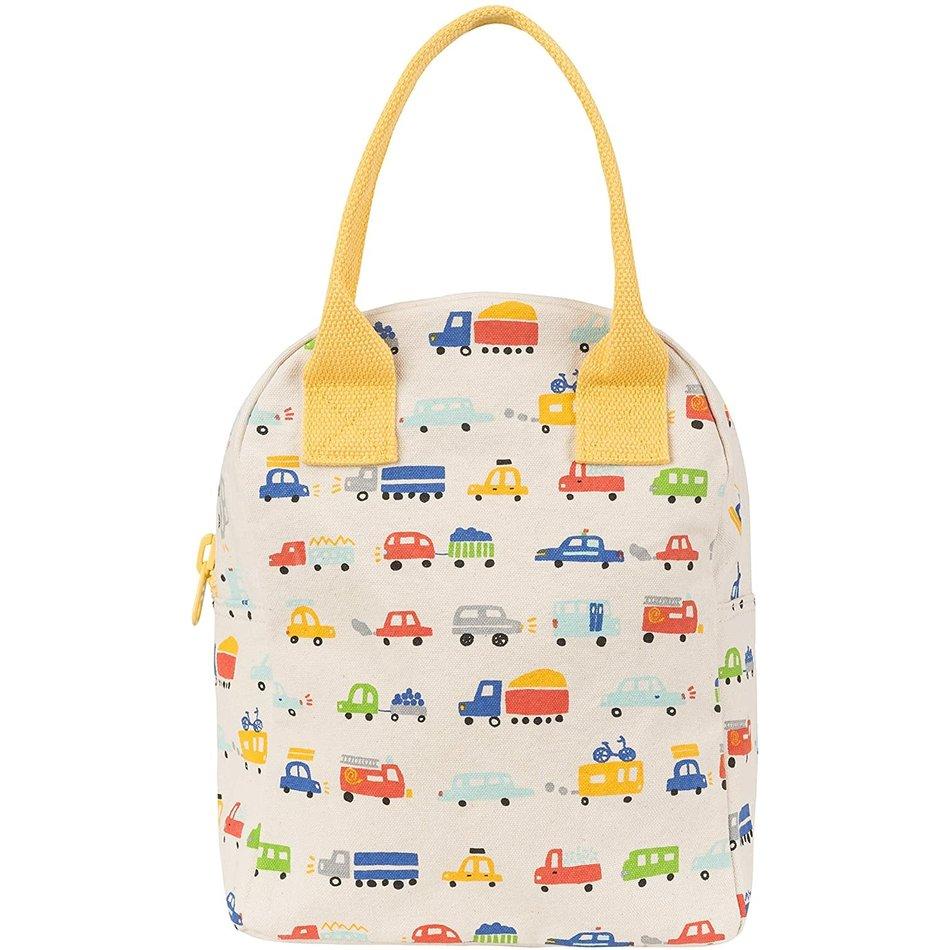 Fluf Fluf Zip Lunch Bag, Cars