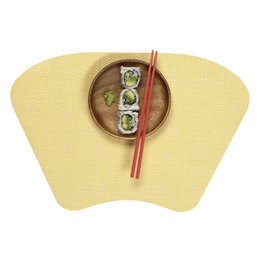 Trace Basketweave Wedge Placemat, Yellow
