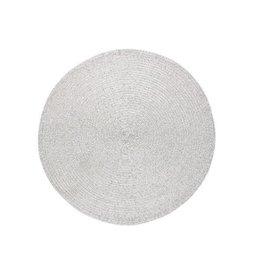 Metallic Round Placemat, Silver