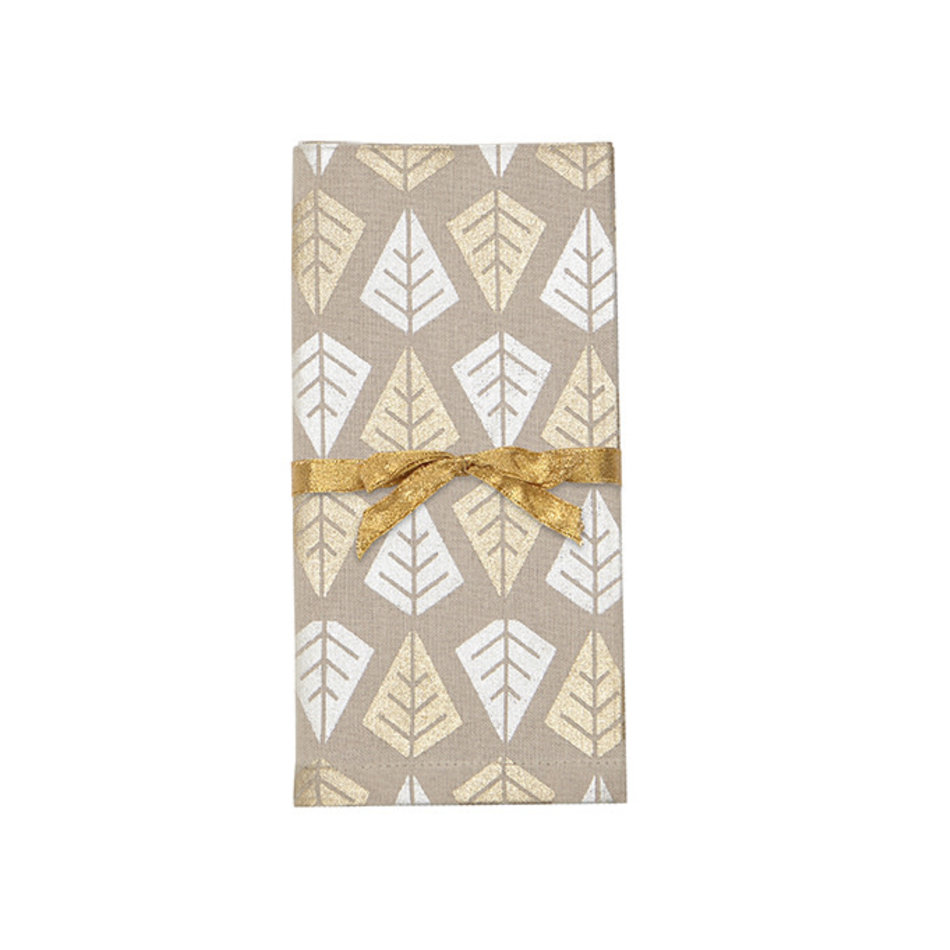 Linear Tree Napkins, Champagne, set of 4