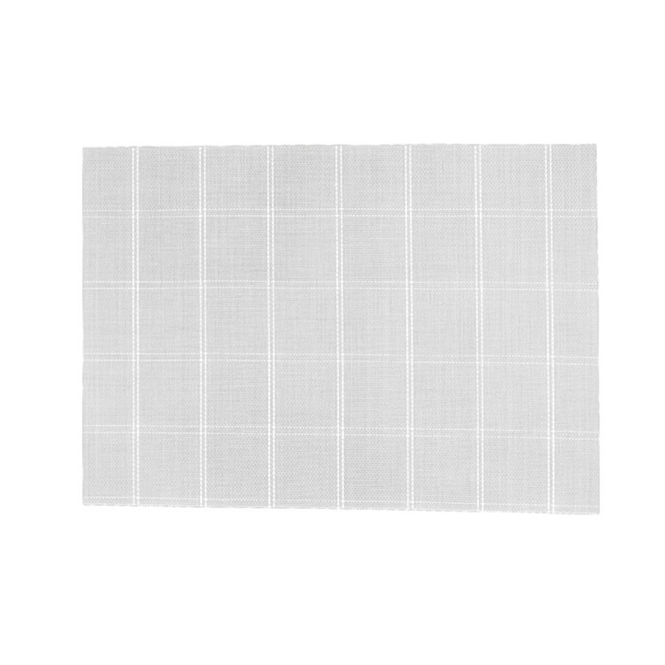 Window Pane Vinyl Placemat, Grey