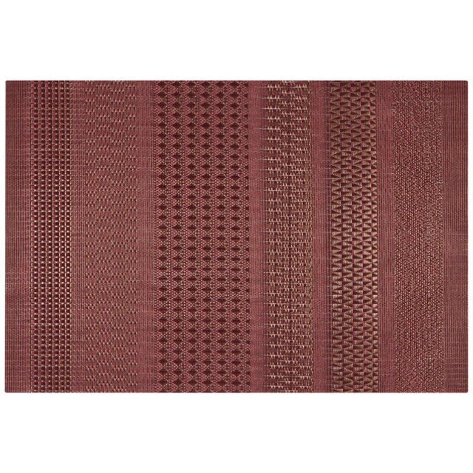 Cadence Vinyl Placemat, Crimson