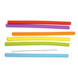 RSVP RSVP SIlicone Smoothie Straws, Set of 6