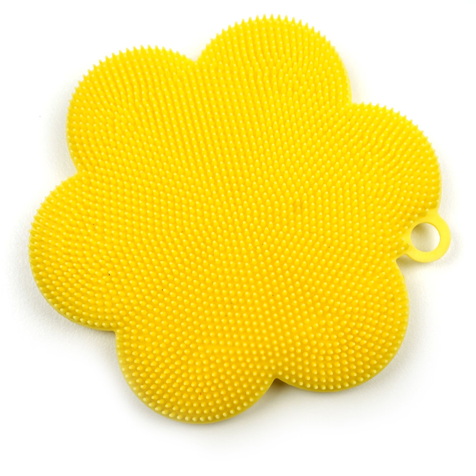 RSVP Sili Soft Scrubber, Yellow