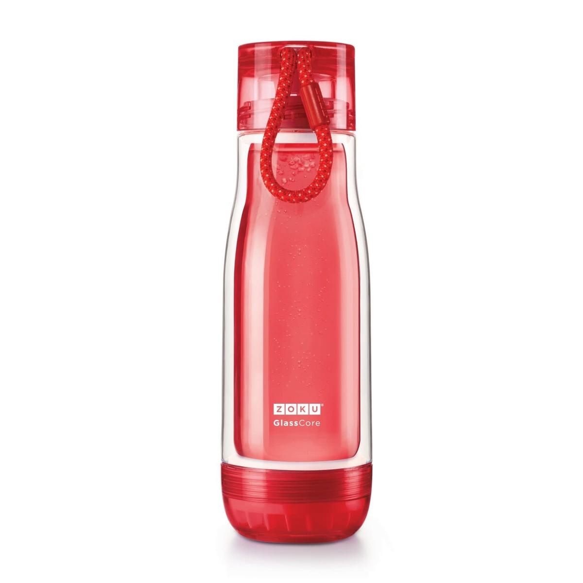 ZOKU Zoku Glass Core Bottle, 16oz