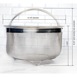 RSVP RSVP Stainless Mesh Basket with Handles, 3QT