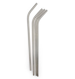 "RSVP RSVP Stainless Steel Straws, 10.5"", Set of 4"