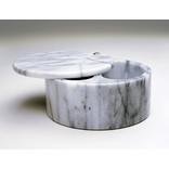 RSVP Swivel Salt Box, White Marble