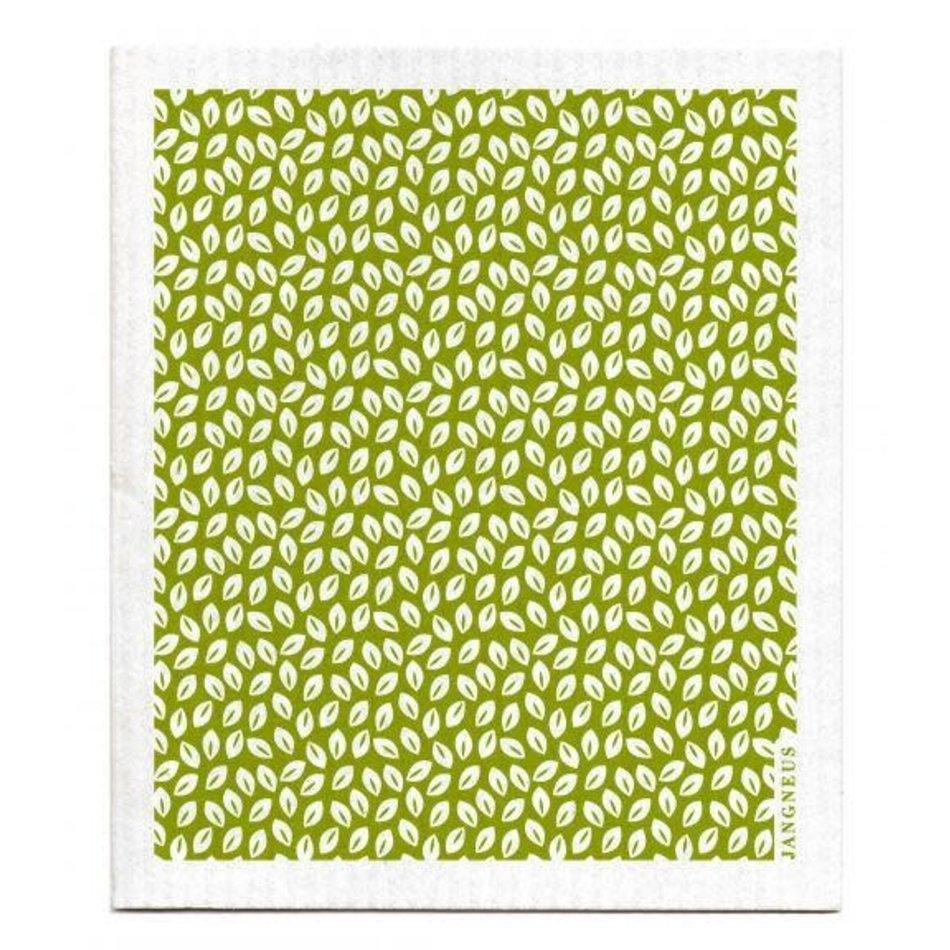 Swedish Dishcloth, Green Thyme Leaves