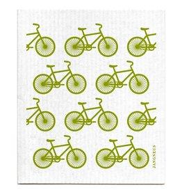 Swedish Dishcloth, Green BIkes