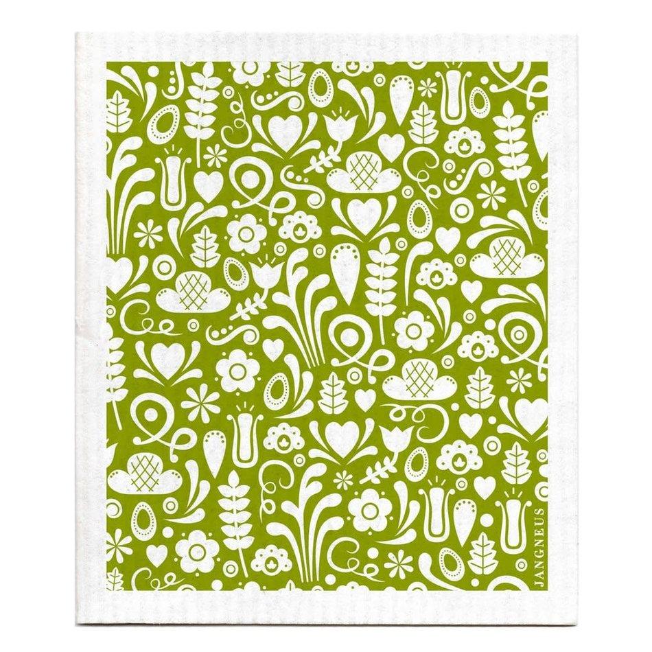 Swedish Dishcloth, Green Dala
