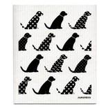 Swedish Dishcloth, Black Dogs